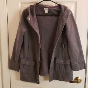 Motherhood Maternity Gray Hooded Jacket Medium